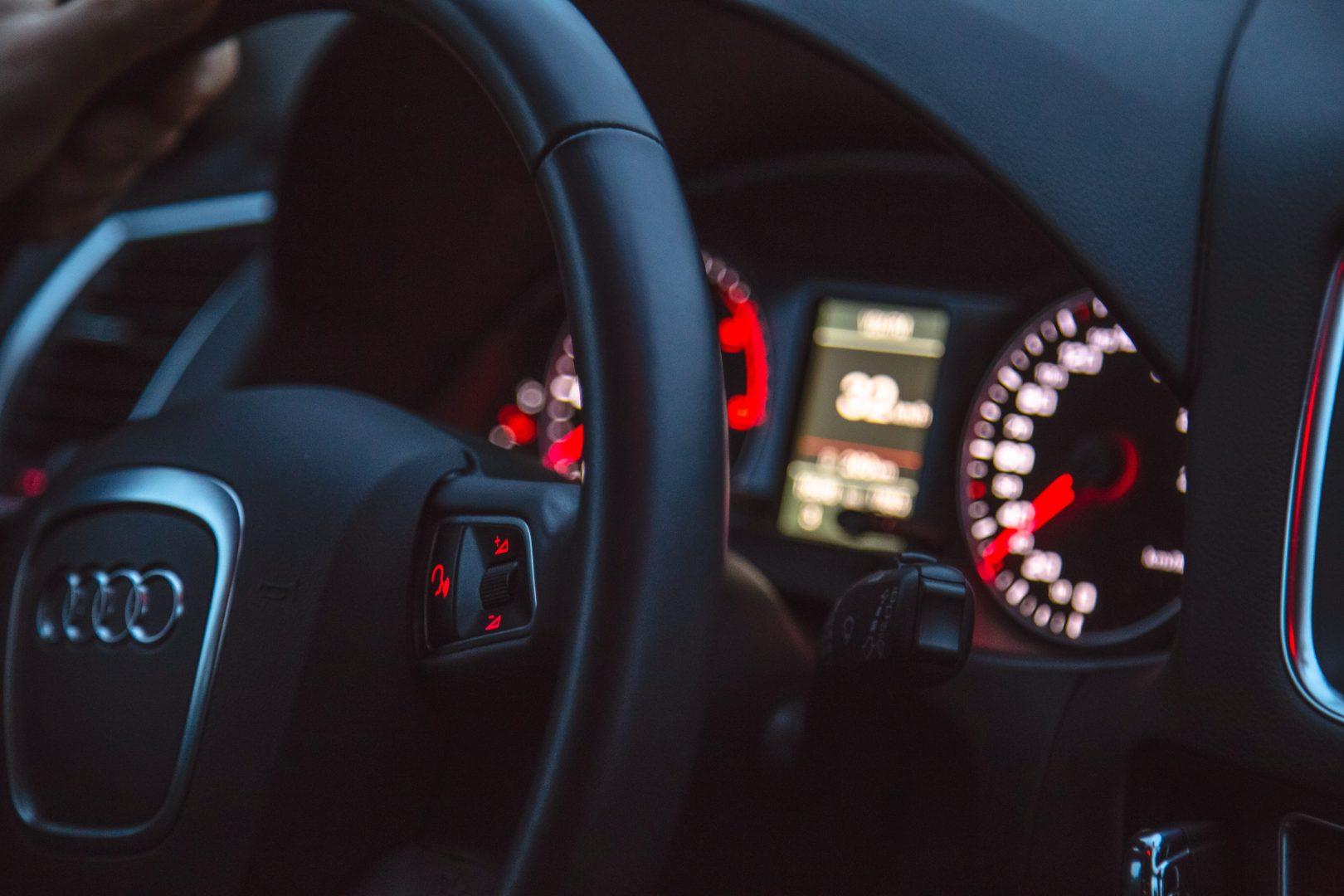 interior of audi dashboard
