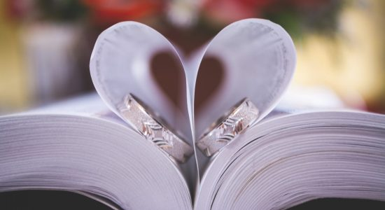two rings on top of a book