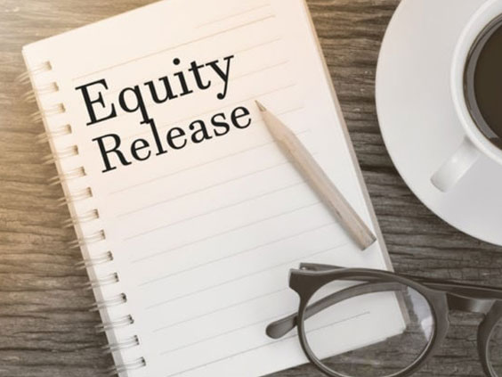 a notepad with equity release written in it